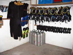 New  dive equipment