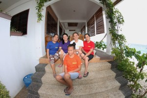 The resort staff