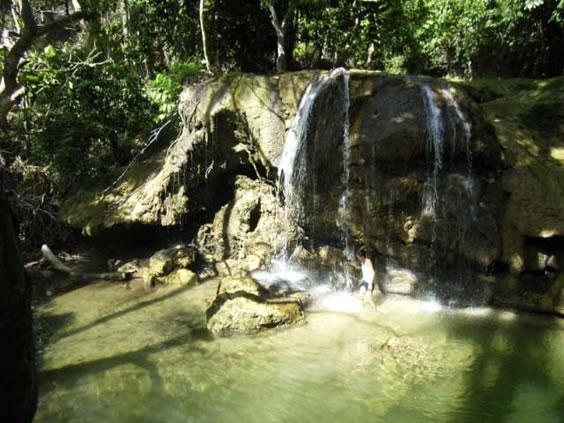 Jungle waterfall San Roque waterfalls